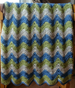 Tranquil Waves Ripple Afghan Pattern