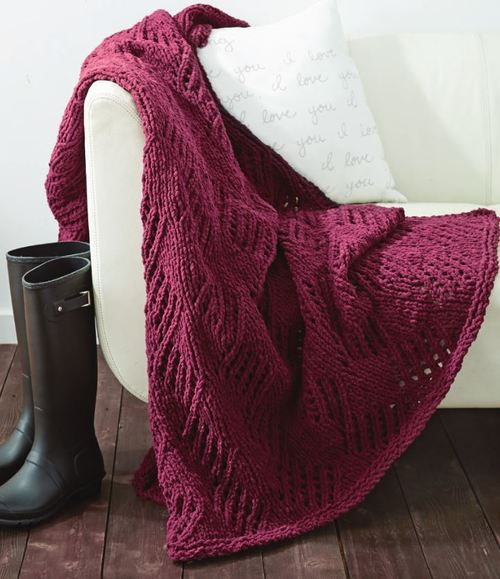 Effortless Cherry Wine Afghan