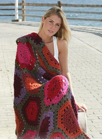 Setting Sun Easy Crochet Blanket