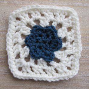 Small Flower Afghan Square