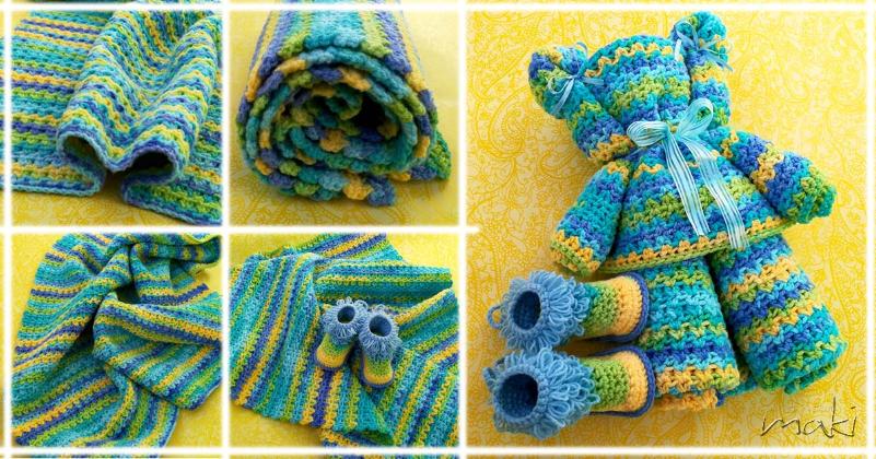 Beary Cute Ripple Baby Blanket