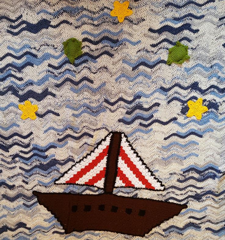 Crochet Sealife Blanket Pattern