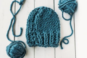 Cozy Blue Hat
